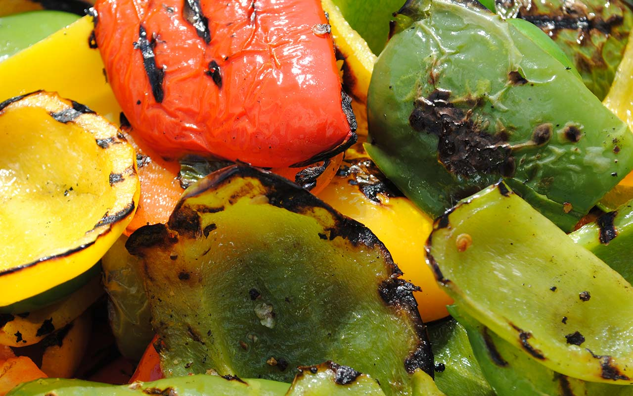 Delicious charred peppers