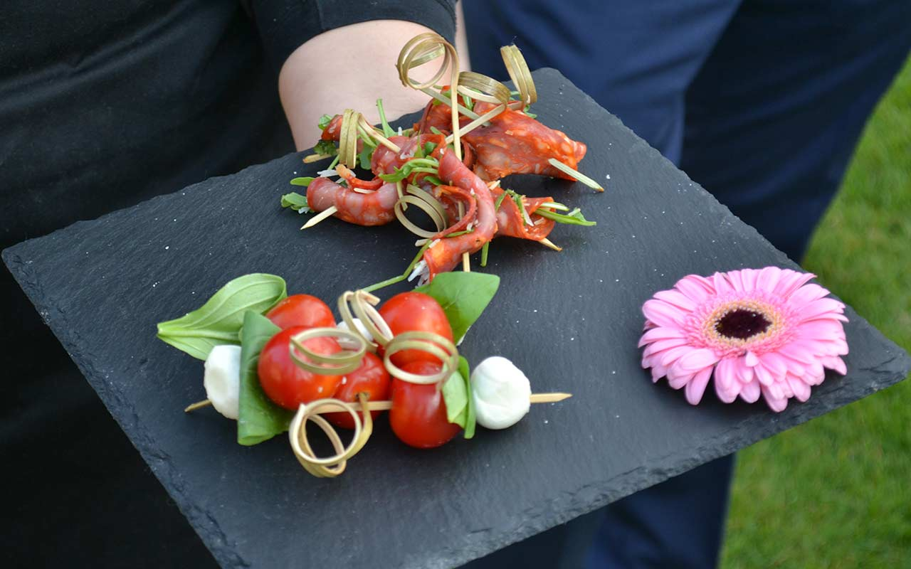 Choice of beautiful canapes, beautifully presented and served
