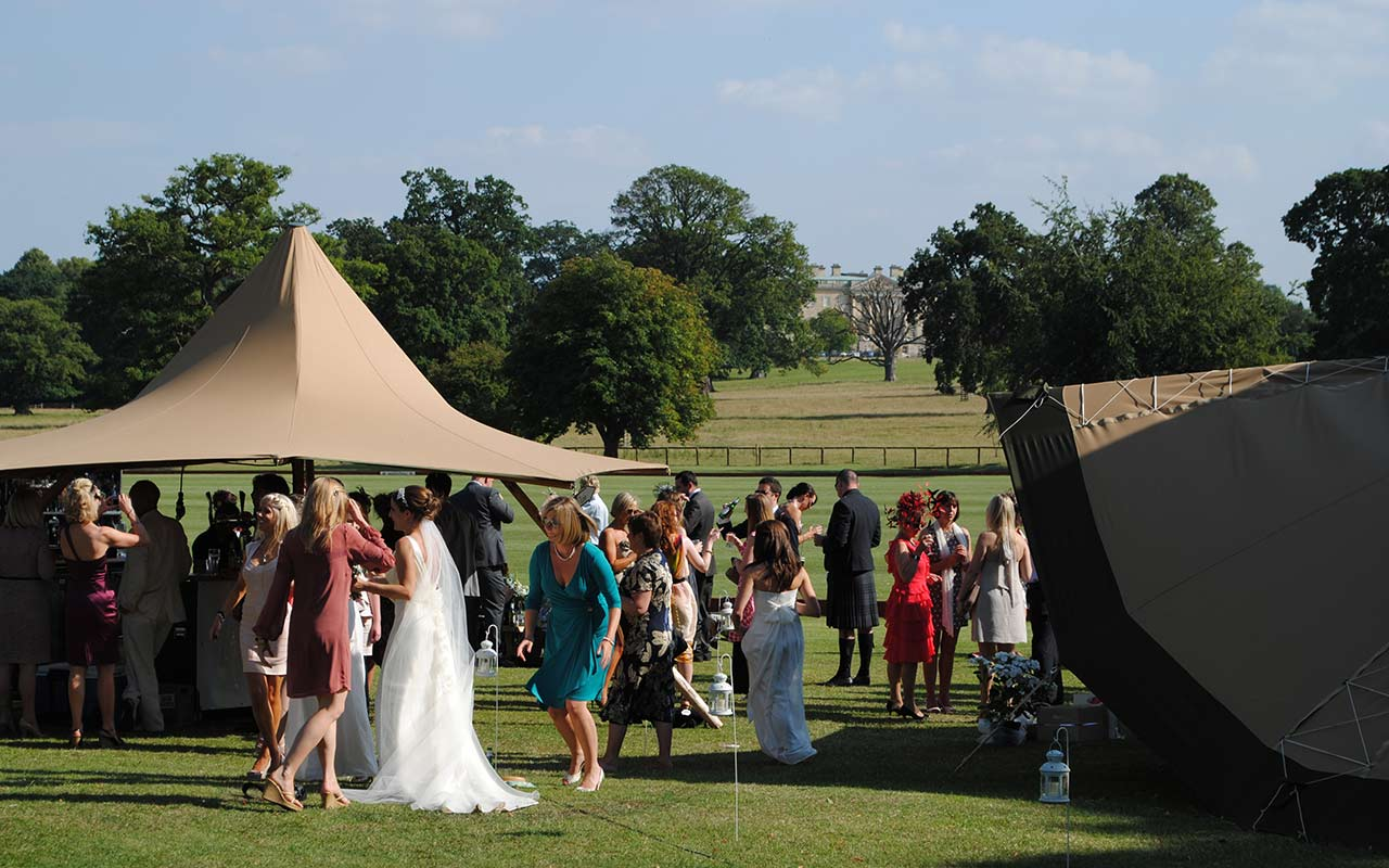 pig roast at Oxfordshire wedding